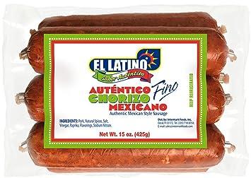 El Latino Chorizo Mexicano. Pack of 6, 15oz: Amazon.com: Grocery ...