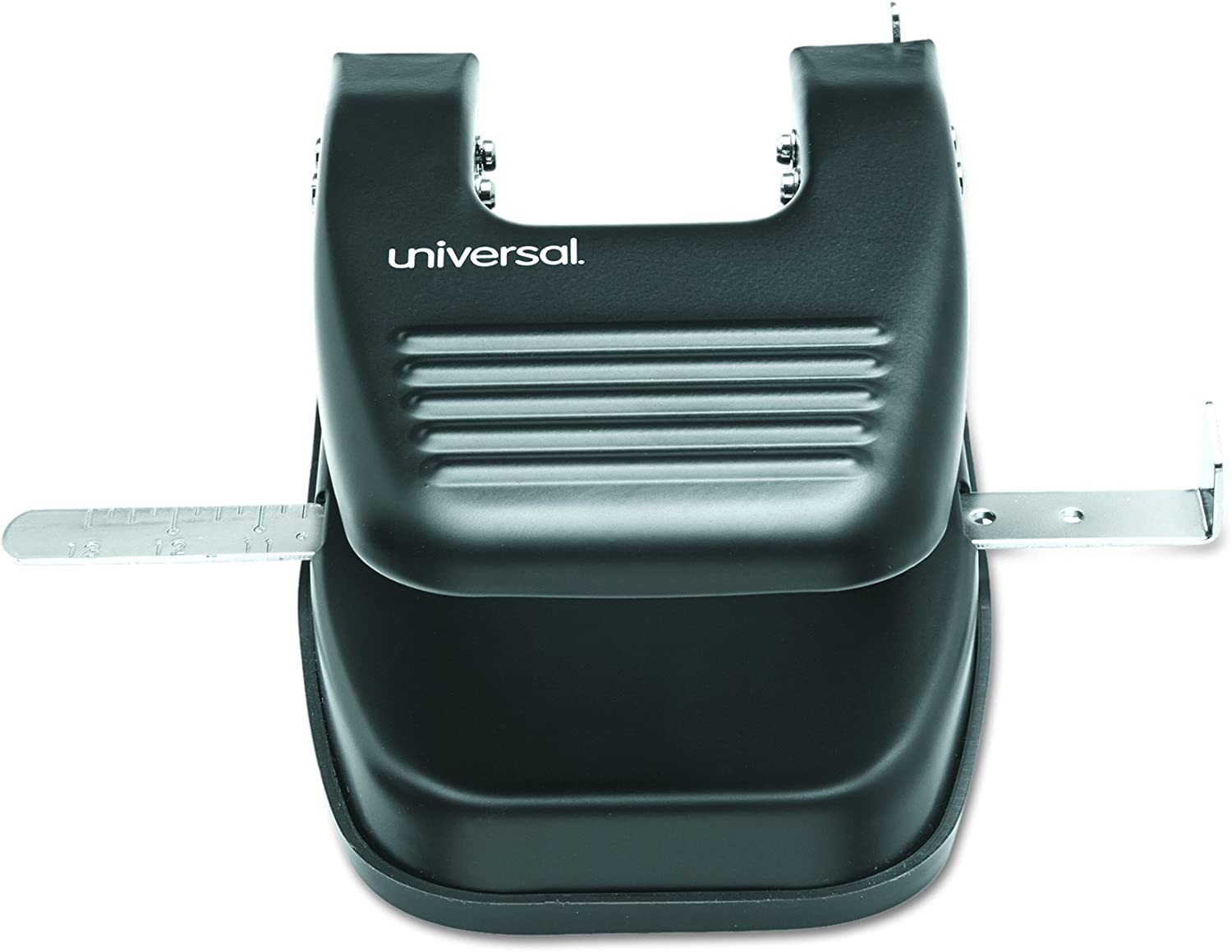 Universal 74222 30-Sheet Two-Hole Punch 9//32 Holes Black