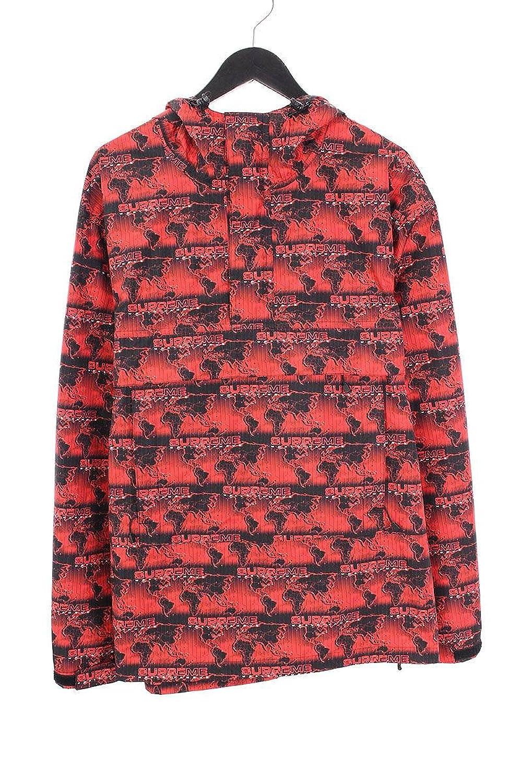 (シュプリーム) SUPREME 【18SS】【World Famous Taped Seam Hooded Pullover】ワールドフェイマステープドプルオーバーパーカー(L/レッド) 中古 B07FPN773Q