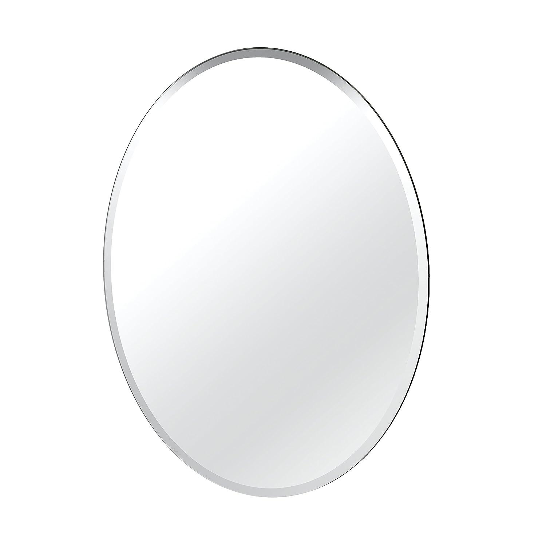 Frameless 32-inch Frameless Oval Gatco 1823 Flush Mount Framed Rectangle Mirror, 25-inch, Chrome