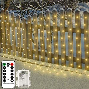 Copper Wire Curtain Window Led Fairy Lights String Outdoor Waterproof with Remote,Warm White,Timer,Dimmable,8 Modes,6.6ftx6.6ft 200Leds, Bedroom Christmas Holiday Wedding Party Birthday Porch Decor