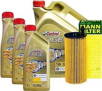 Set 8L de aceite Castrol 5 W de 30 + Muñeco de aceite para Volkswagen Touareg 7P5 3.0 V6 TDI: Amazon.es: Coche y moto