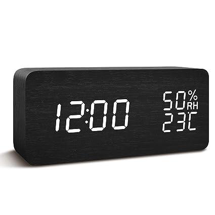 FiBiSonic Reloj Despertador Digital LED Despertador Luz Nocturna Recargable Lámpara de Noche Infantil con Función de