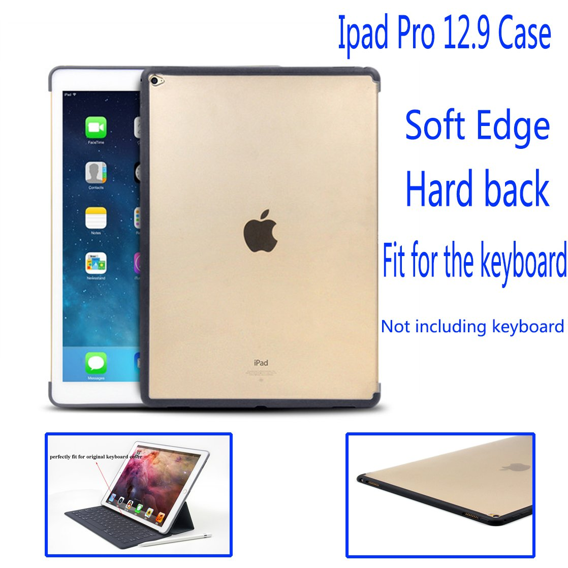 Millimeter Ipad Pro Case (12 Inch) Slim Fit Protective Shell Perfect Match With Smart Keyboard Soft TPU Bumper PC Back Cover For Ipad Pro 12.9'' A1584(2015 Release without Smartcover Or Keyboard)Shell by Millimeter