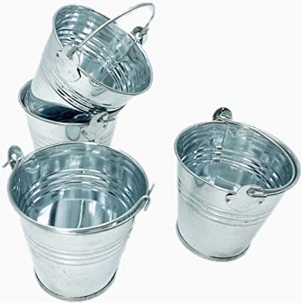 Amazon Giftexpress 12ct Mini Metal Buckets Mini Tin Pails With