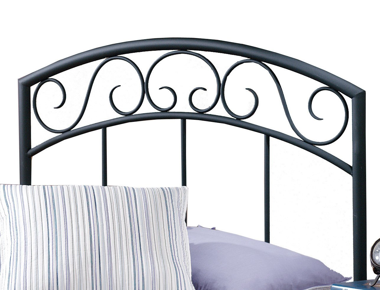 Hillsdale Furniture 298-34 Traditional Wendell Headboard Without Rails, Twin, Black