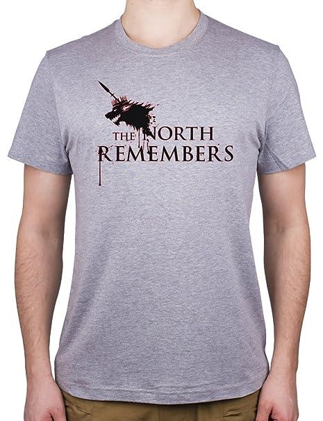 Juego de Tronos El Norte Recuerda – Camiseta para hombre Gris gris XX-Large