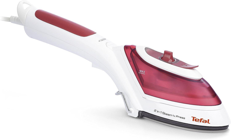 Tefal Steam N Press DV8610E1 - Cepillo y plancha vapor 2 en 1 de 800 W temperatura ajustable, depósito de 0,7 L, cepillo para tejido y quitapelusa