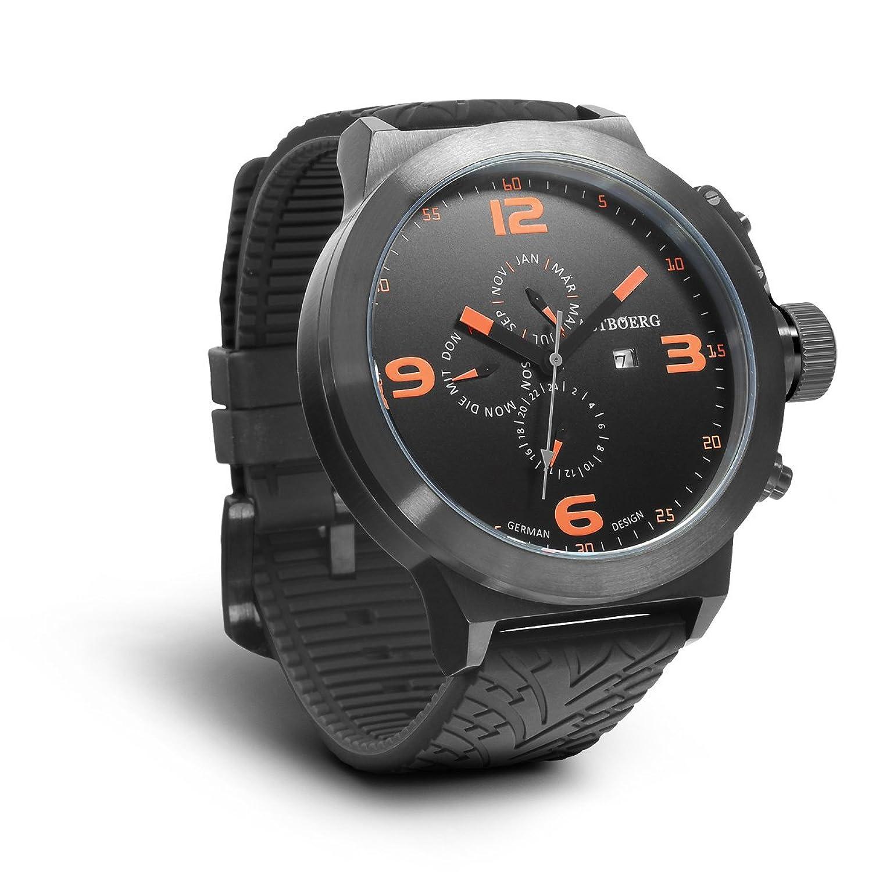 Astboerg Kingsize STEEL AT0215-TW-O XXL SWISS MOV. Herren Armbanduhr GMT