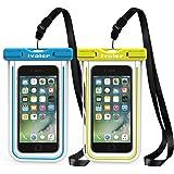 "[IPX8 Certificato] Custodia Impermeabile,[2 Pack] iVoler Custodia Cellulare Impermeabile Universale 6.2 Pollici Waterproof Cover Case Impermeabile per iPhone X / 8 / 8 Plus / 7 / 6s / 6, 7 Plus / 6s Plus / 6 Plus, SE 5S 5C, Samsung Galaxy S9/S9 Plus/S8/S8+/S7/S7 Edge/S6/S6 Edge/Edge+, Note 5/4/3/Edge, Huawei P20/P20 Lite/P10/P10 lite, Nexus, ASUS, LG, HTC, Sony Xperia, Motorola ed Smartphone Uguale o Inferiore a 6.2"",ecc - Garanzia a vita (Blu+Verde)"