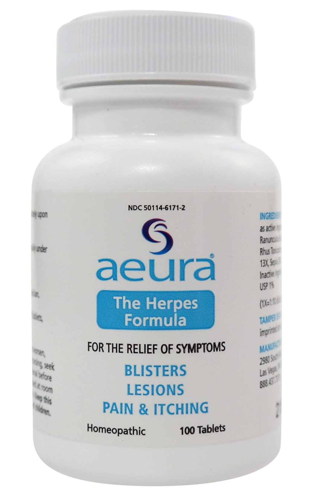 AEURA – THE HERPES FORMULA | FAST Relief and Prevention of Herpes Outbreaks | 100% Guaranteed Safe & Effective, ALL-NATURAL Tablets for HSV1 & HSV2 Outbreaks & Prevention | SAFE & EFFECTIVE