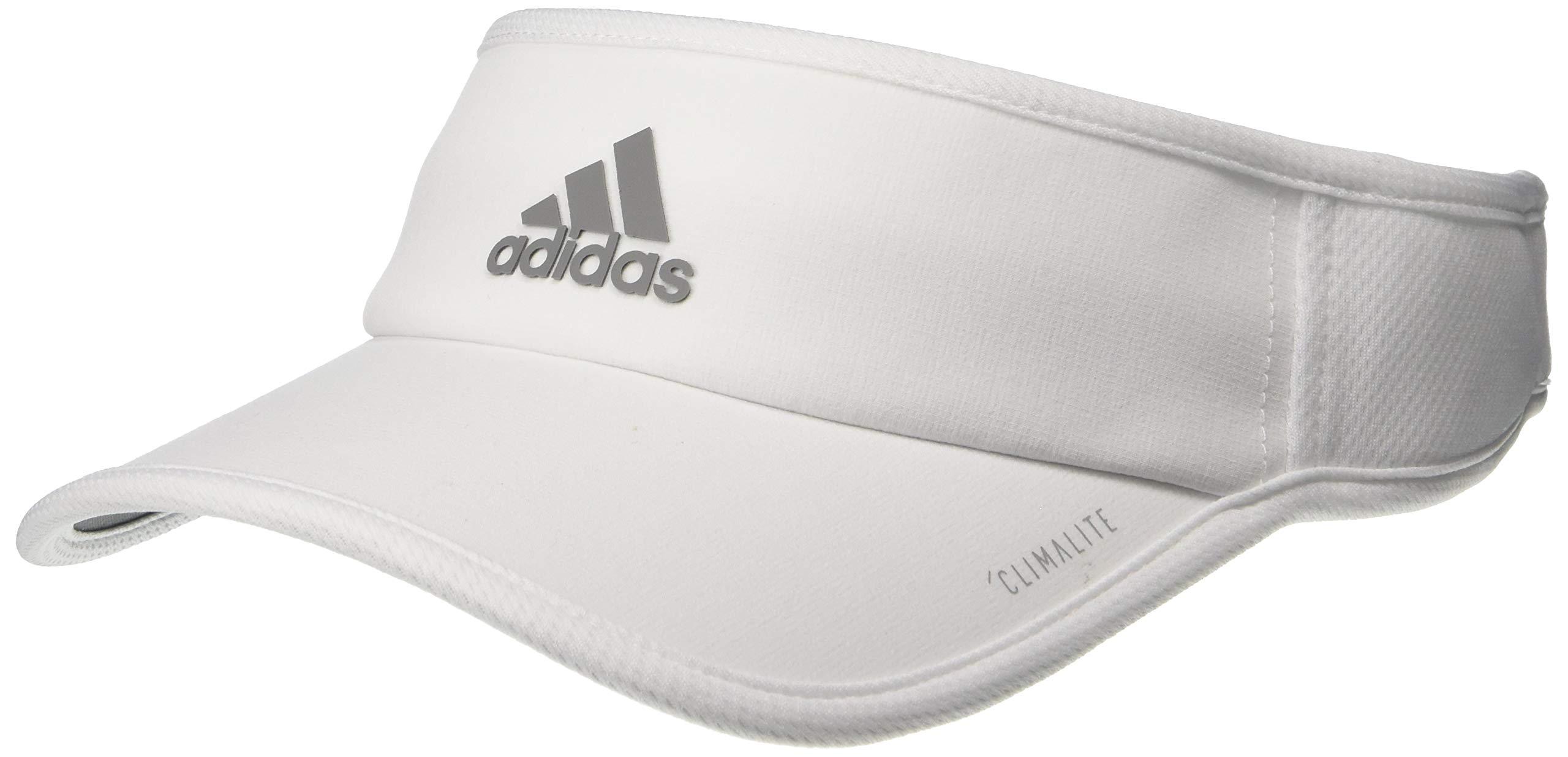 adidas Women's Superlite Performance Visor, White/Light Onix, ONE SIZE by adidas