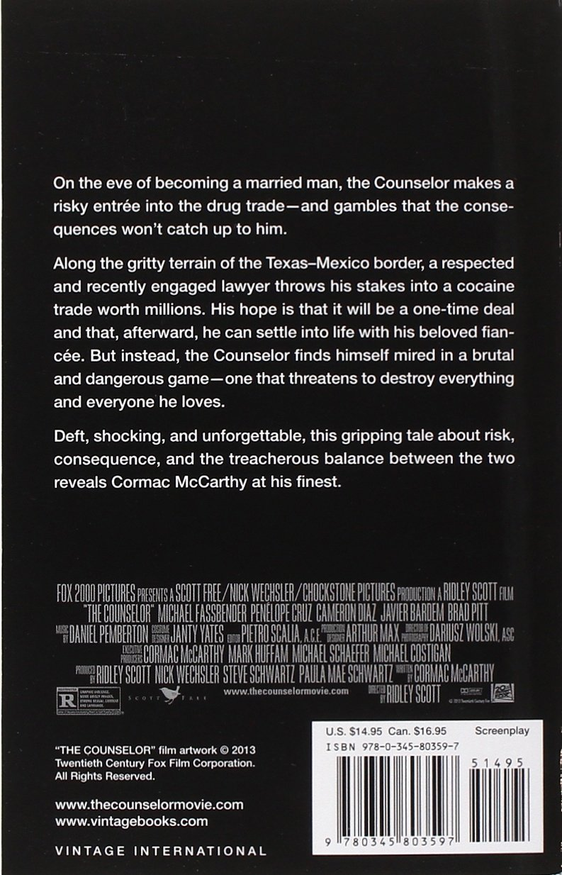 The Counselor (movie Tiein Edition): A Screenplay (vintage International): Cormac  Mccarthy: 9780345803597: Amazon: Books