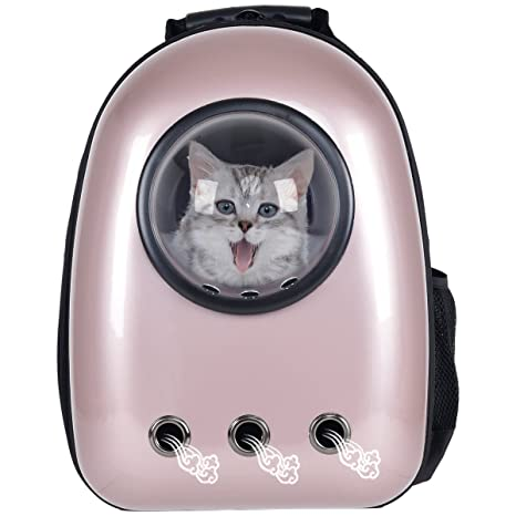 fe0ccac38490 Giantex Astronaut Pet Cat Dog Puppy Carrier Travel Bag Space Capsule  Backpack Breathable (Golden Rose