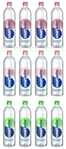 LUV BOX - Variety smartwater pack , 23.7 oz Bottles, pack of 12 , watermelon mint , strawberry blackberry , cucumber lime