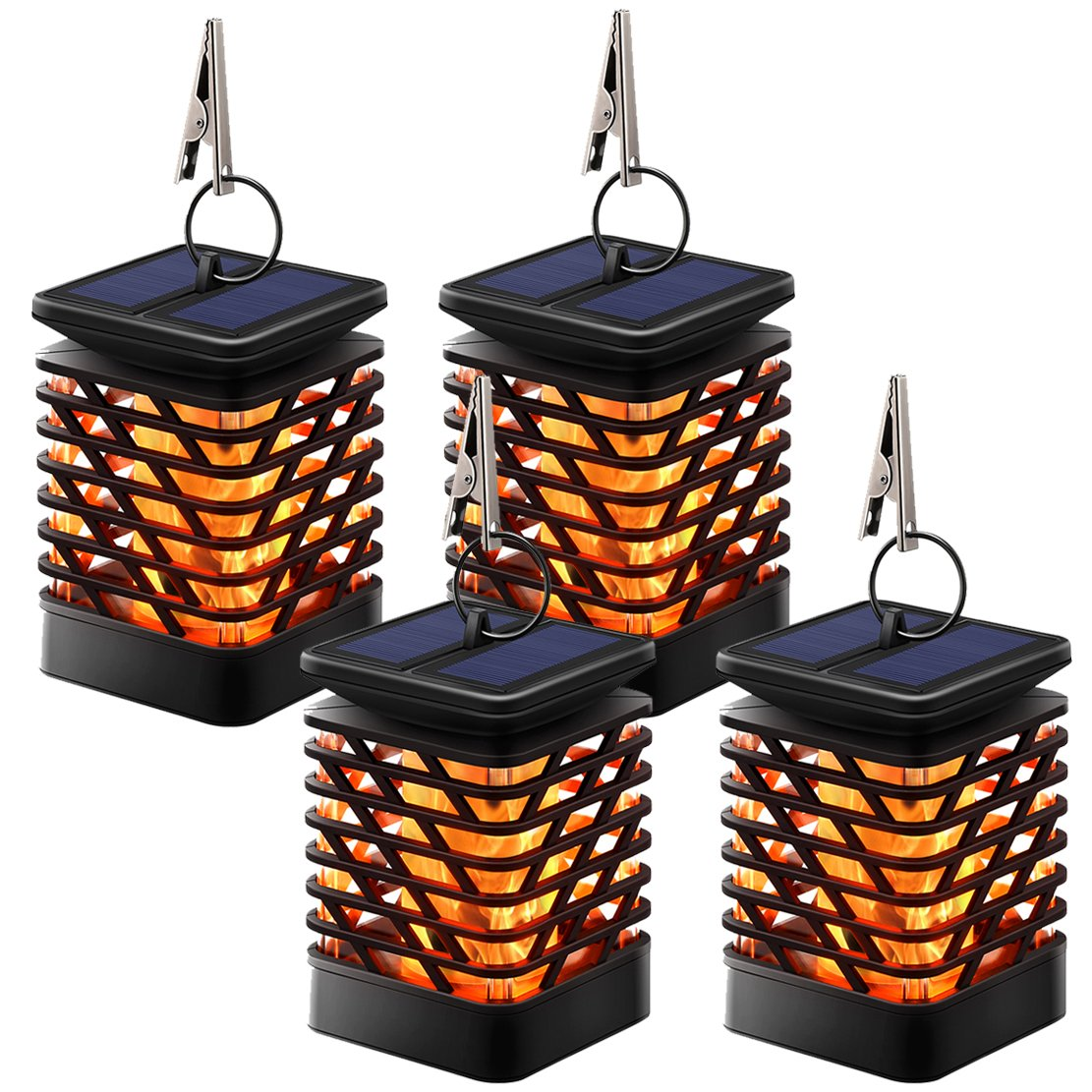 TomCare Solar Lights Solar Lanterns Dancing Flame Outdoor Hanging Lanterns Lights Decoration Lighting Solar Powered Waterproof Umbrella Lanterns Night Light Auto Sensor for Garden Patio Yard (4) by TomCare