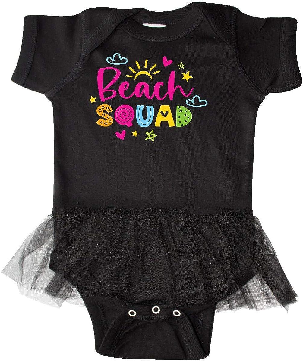 inktastic Spring Break Beach Squad Infant Tutu Bodysuit