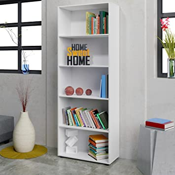 CS SchmalR Trio Bookcase Large Bookshelf High Shelf Shelving Unit Filing Cabinet Wood Free Standing
