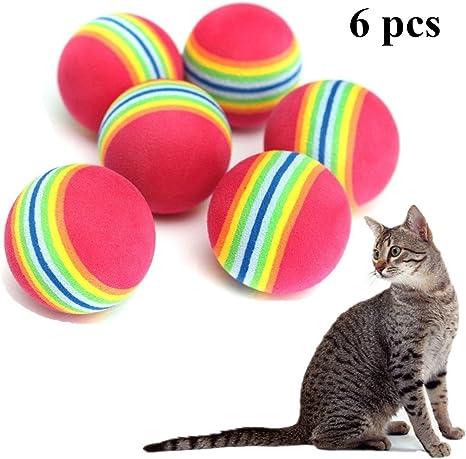 cosanter parte pelotas para gatos/arco iris Ball, redondos, 6 ...