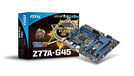 28 opinioni per MSI Z77A-G45 Scheda madre (Intel Core i3/i5/i7/Pentium/Celeron, Intel Z77, ATX,