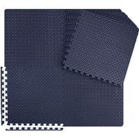 Meisterhome ® Geluidsdempende sport EVA puzzelmat set - Waterdichte fitness mat met mooie afgewerkte randen - Zachte…