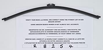 Limpiaparabrisas trasero de ajuste exacto 40 cm RB254