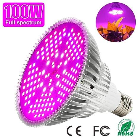 Led Grow Bombilla 100W Espectro Completo LED Planta lámpara 150 Leds Iluminación para plantas para invernaderos