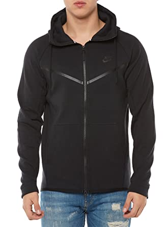 Nike Mens Sportswear Tech Fleece Windrunner Hooded Sweatshirt Black/Black  805144-010 Size Small