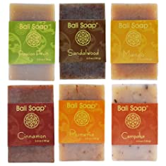 Bali Soap - Natural Bar Soap, 6 pc Set, 3.5 Oz each