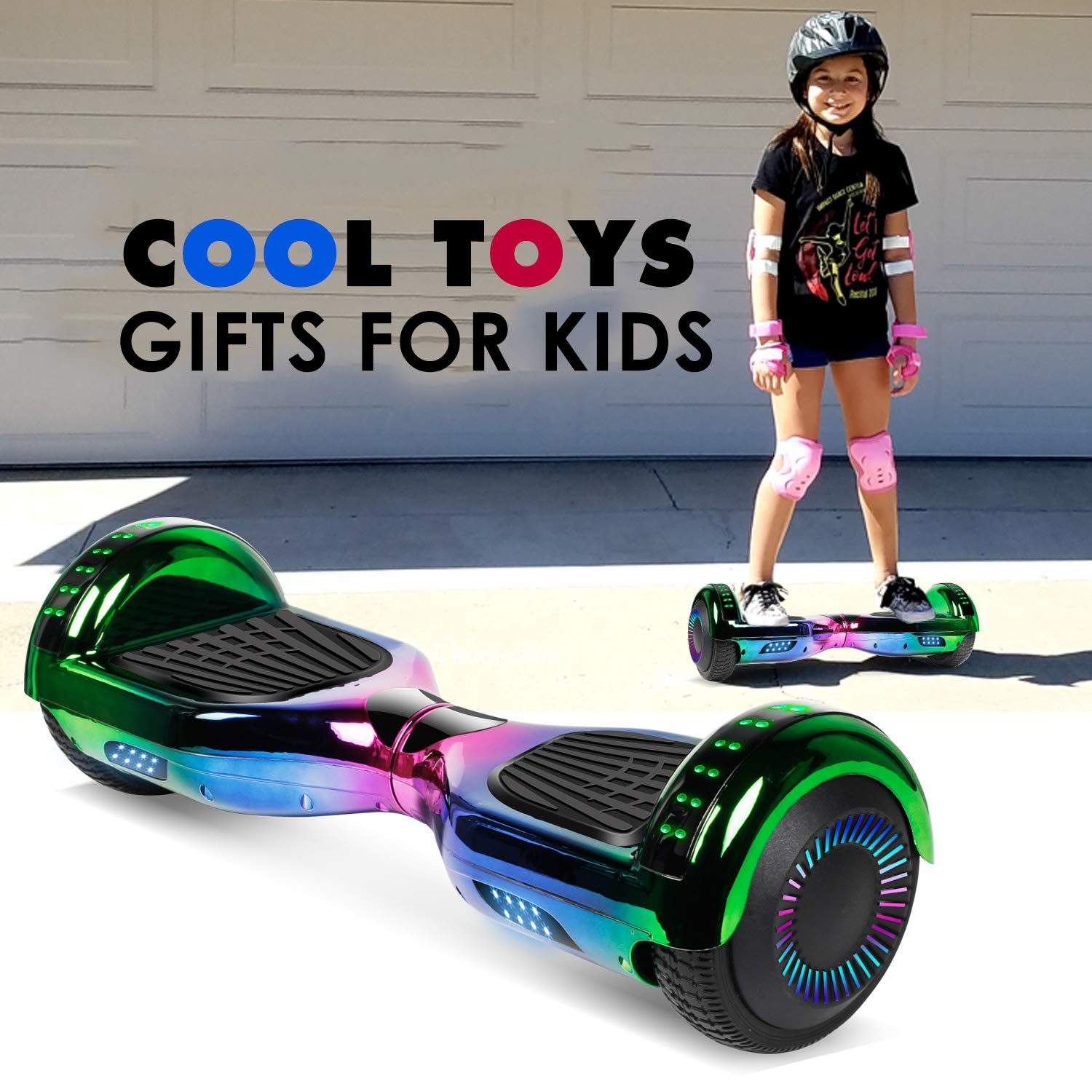 jolege Hoverboard with Bluetooth 6.5 inch Self Balancing Hoverboards for Kids with LED Flahing Lights-UL2272 Certified by jolege (Image #7)