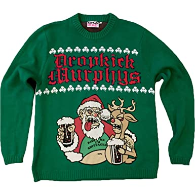 knit sweater dropkick murphys sloshed santa ugly sweater crewneck sweatshirt size s