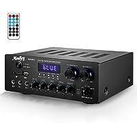 Amplificador de Sonido Moukey Amplificador de Potencia BT Audio Stereo Receptor de Audio Estéreo de Doble Canal 220W…