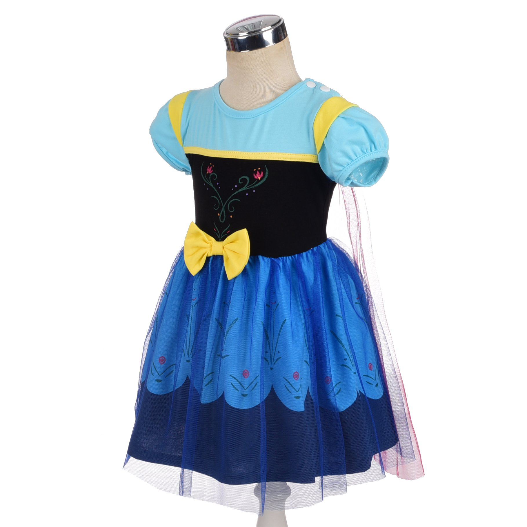 Dressy Daisy Princess Anna Dress for Toddler Girls with Cape Halloween Fancy Party Costume Dress Size 2T by Dressy Daisy (Image #3)