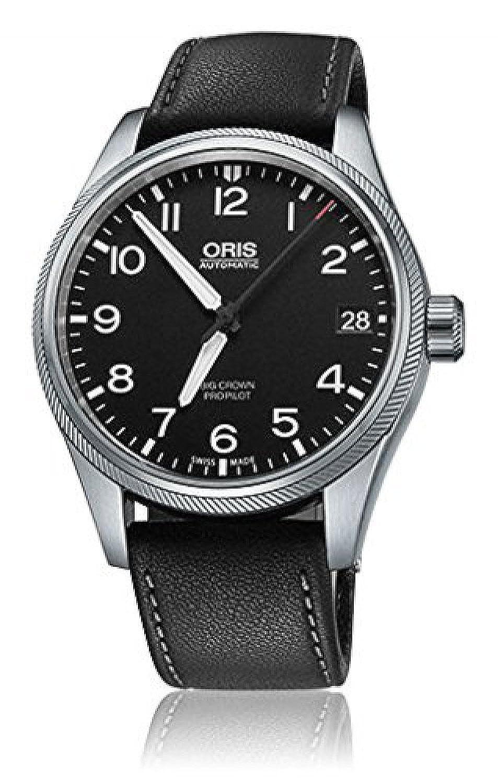 オリス Oris Big Crown Propilot Automatic Black Dial Black Leather Mens Watch 751-7697-4164LS [並行輸入品] B01B6DAJ7S
