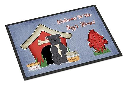 Caroline tesoros del bb2800mat perro casa colección Staffordshire Bull Terrier azul interior o al aire libre