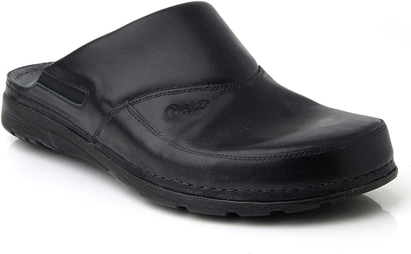 Batz Peter Leather Mens Slip-on Clogs Mules
