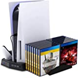 Vertical Charging Stand for Playstation 5 with Cooling Fan Charging Station Dock for Digital Edition/Ultra HD PS5 Console wit