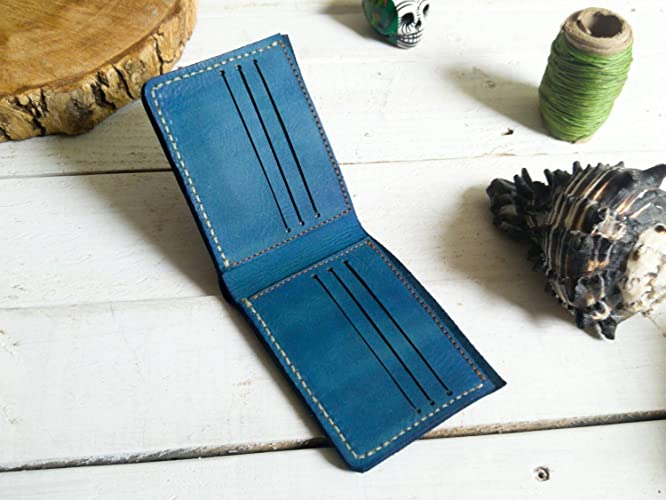 Blue wallet | mens wallet | Gift | without logo| father | boyfriend | card