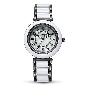 Amazon.com: TIME100 Reloj de pulsera para mujer con esfera ...