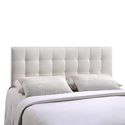 queen size modway tufted vinyl amazon headboard white in dp lily com upholstered bed