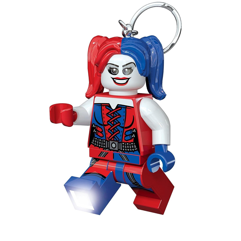 LEGO Lights IQLGL-KE99 DC Comics Súper Héroes, Harley Quinn, Llavero con luz