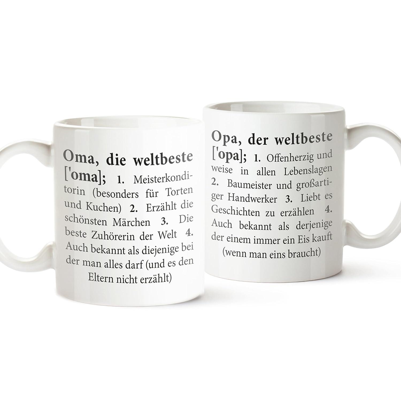 2 er Set Tasse mit Aufdruck – Definition Oma und Opa – Standard ...