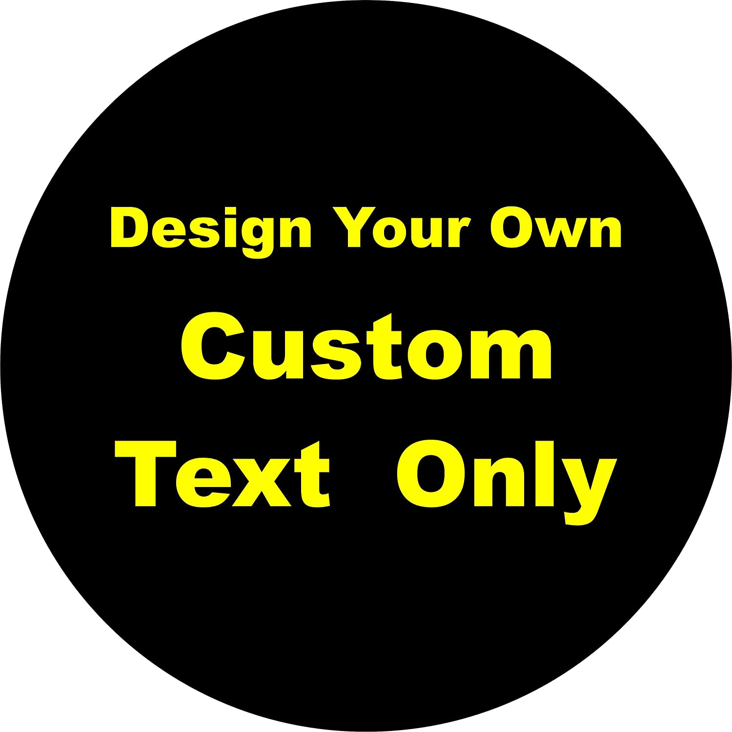 Amazoncom Tire Cover Central Custom Text Only Lettering Spare Tire