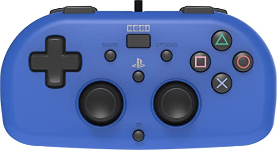 Hori - Mando Mini Con Cable, Color Azul (PS4)
