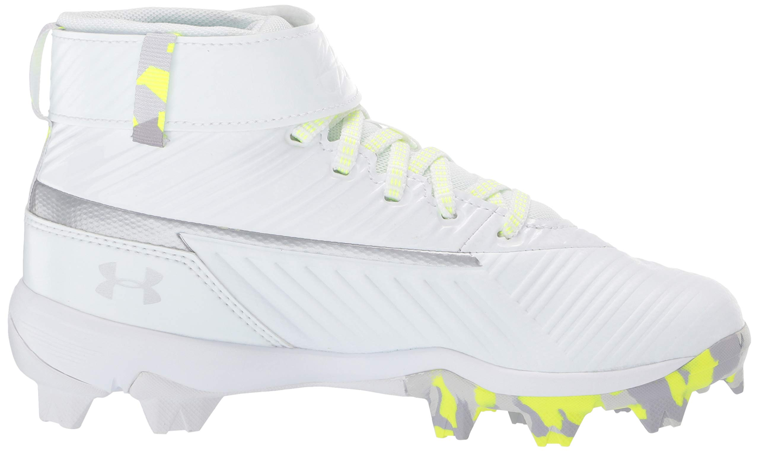 Under Armour Boys' Harper 3 Mid Jr. RM Baseball Shoe 100/White, 1 by Under Armour (Image #11)