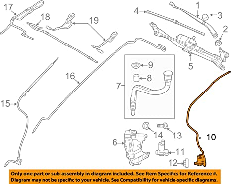 Windshield Washer Pump LR002301 For Land Rover LR2 LR4 Range Rover Discovery