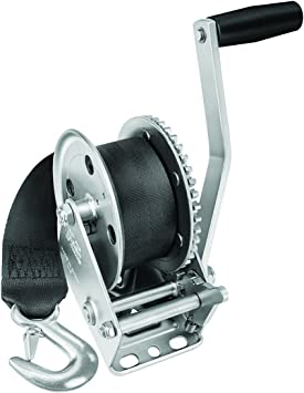 Single Speed Winch with 20 Strap and Cover-1400 lbs Capacity Fulton 142311 1400 Lbs