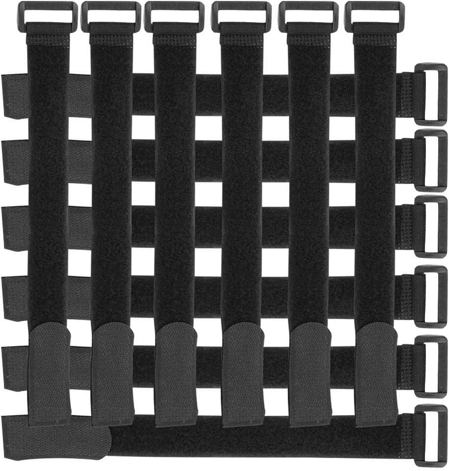 organizador cables,gancho y bucle correas, 10 piezas ajustable cierre de velcro cable ties organizador negro