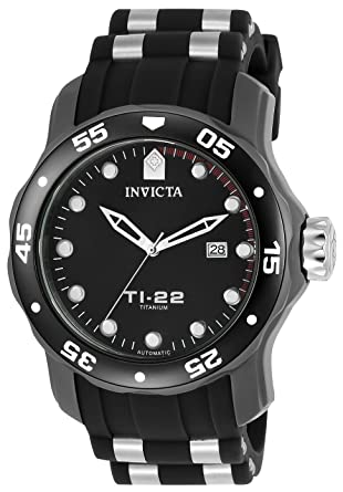 Invicta 23557 TI-22 Men's Wrist Watch Titanium Automatic Black Dial