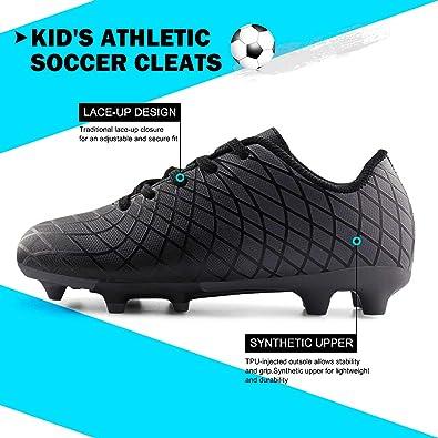 JABASIC Kids Football Boots Boys Girls High Top Outdoor Football Boots